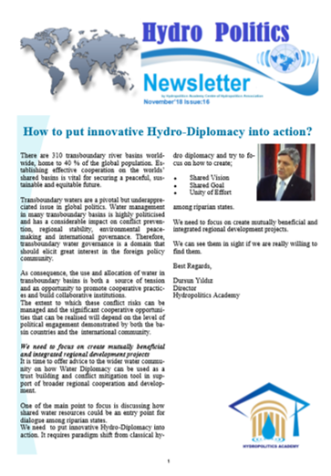 Hydro Politics Newsletter