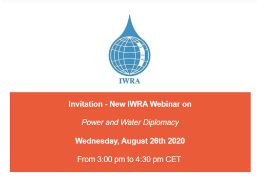 Power and Water Diplomacy   Webinar_ August 26th 2020