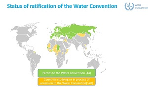Reviewing progress on transboundary water cooperation in the world