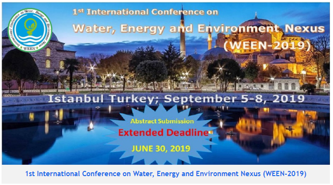 1st International Conference on Water Energy and Environment Nexus (WEEN_2019)