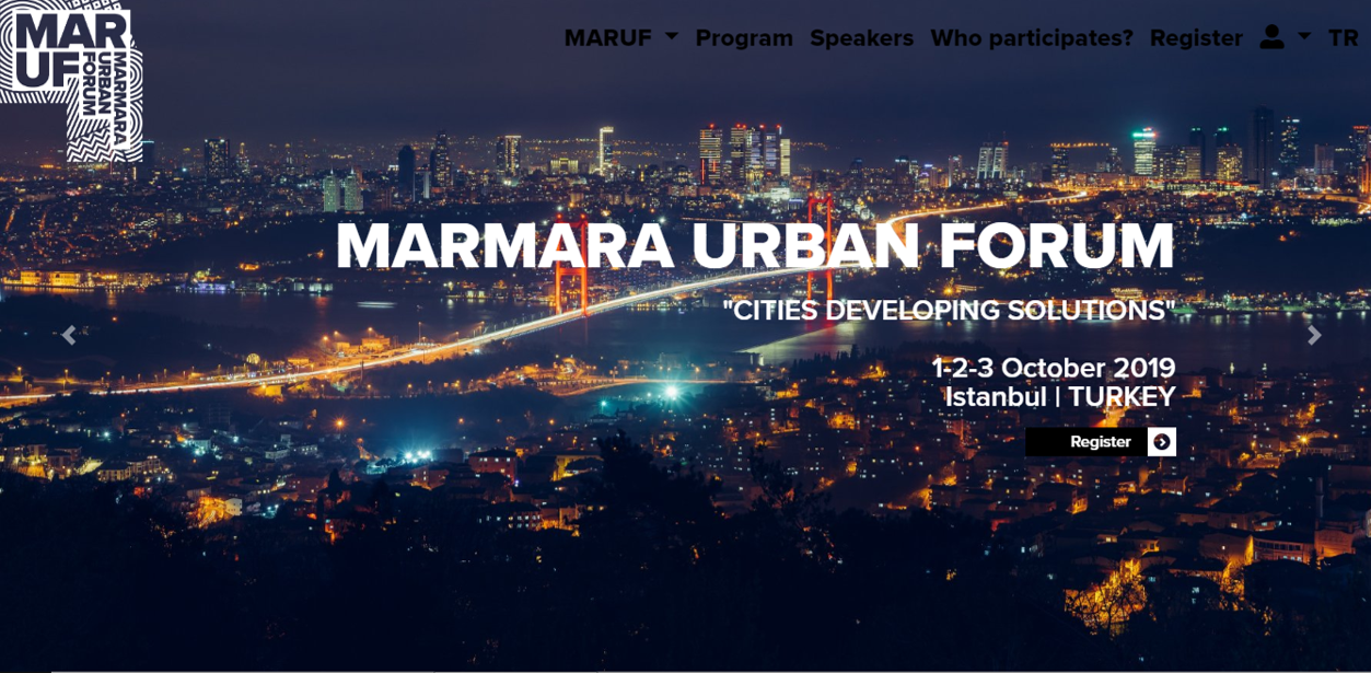 Marmara Urban Forum (MARUF) 123 October 2019  İstanbul/Turkey